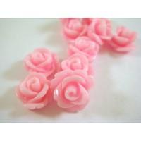 Akrilinė gėlytė rožė kabošonas šviesiai rožinės sp. 14x8mm
