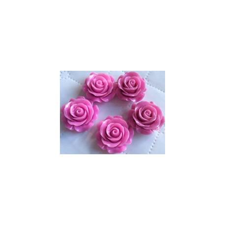 Akrilinė gėlytė rožė kabošonas šviesiai violetinės sp. 14x8mm