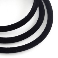 Veliurinis dirželis juodos sp., 5mm storio, 50 cm, 1vnt.
