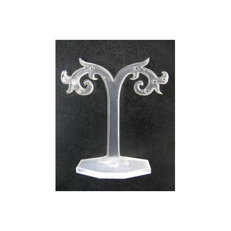 Akrilinis stovas auskarams permatomas, 8*15cm, 1 vnt.