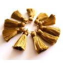Sintentinių siūlų kutelis, rusvos sp. su aukso sp. žiedeliu, 30x15mm, 1 vnt.