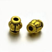 Intarpas aukso sp., bačkutė 6x4mm, 1 vnt.