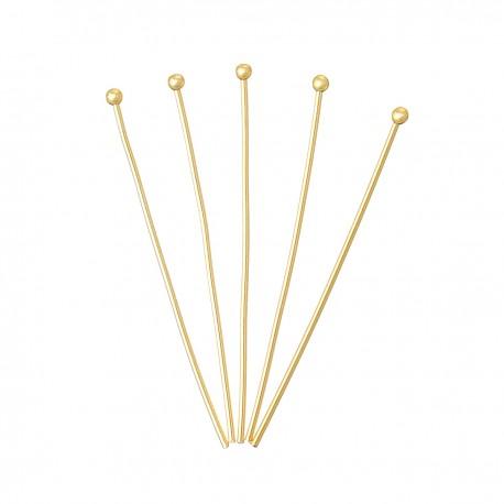 Vinukai aukso sp., su apvalia galvute, 0,5x45mm, 20 vnt.