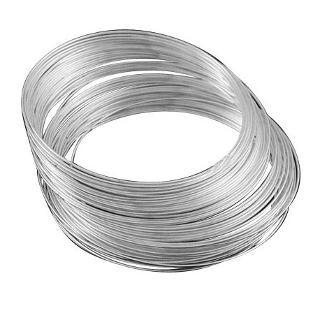 Viela su atmintim apyrankėms, sidabro sp., storis 1mm, 5 žiedai