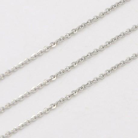 Grandinėlė sidabro sp., žiedelių dydis 1,5x2mm, 50 cm