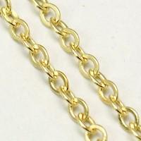 Grandinėlė aukso sp., žiedelių dydis 2x1,8mm, 50 cm