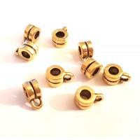 Intarpas su kilpute, aukso sp., 9x6x4mm, 1 vnt.