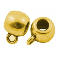 Intarpas su kilpute, pakabiklis, aukso sp., 12,5x9x8mm, 1 vnt.