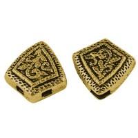 Paskirstytojas rombas, 3 skylučių, antik. aukso sp., 1 vnt.