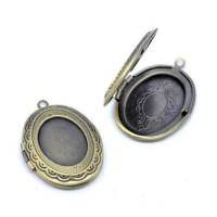 Pakabukas medalionas, antik. bronzos sp. 24x34mm, 1 vnt.
