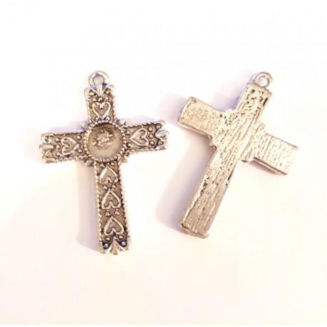 Pakabukas kryžiukas antik. sidabro sp., 31x22mm, 1 vnt.