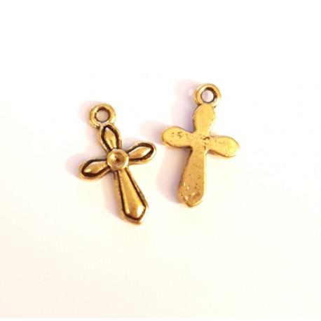 Pakabukas kryžiukas antik. aukso. sp., 20x12mm, 1 vnt.