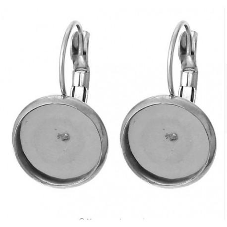 Auskaro ruošinys sidabro sp., 25x18, 1 pora