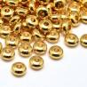 Žalvariniai intarpai aukso sp., 6x3mm, 1 vnt.