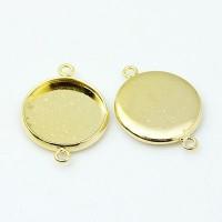 Rėmelis kabošonui intarpas apvalus aukso sp., 21.5x16x2.5mm, 1 vnt.