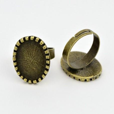 Žiedo pagrindas antik. žalvario sp., 17x5 mm, 1 vnt.