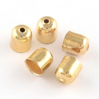 Antgalis aukso sp., 7x6mm, dirželiui 5mm, 1 vnt.