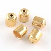 Antgalis aukso sp., 7x6mm, dirželiui 5mm, 6 vnt.