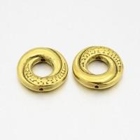 Intarpai žiedai aukso sp., 15mm, 5 vnt.