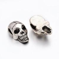 Karoliukas kaukolė, sidabro sp., 21x12x9,5mm, 1 vnt.
