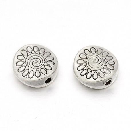 Intarpas su gėle antik. sidabro sp., 8,5mm, 1 vnt.