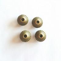Intarpas bikonas antik. bronzos sp., 7,8x5,5mm, 1 vnt.