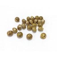 Intarpas bikonas antik. aukso sp., 7,8x5,5mm, 1 vnt.