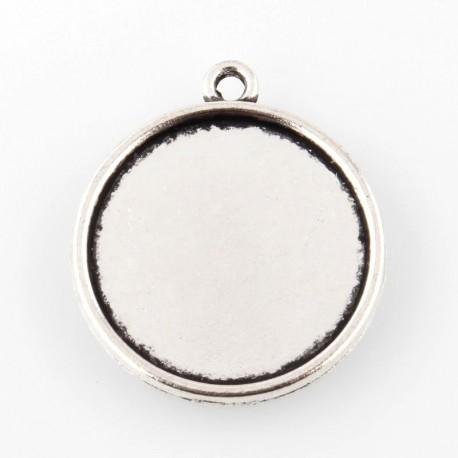 Pakabukas rėmelis antik. sidabro sp., 24x21x2mm, 1 vnt.