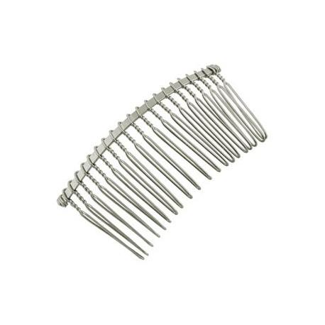 Plaukų segtukas šukutės sidabro sp., 38x77mm, 1 vnt.