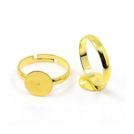 Žiedo pagrindas aukso sp., dydis reguliuojamas, 1 vnt.