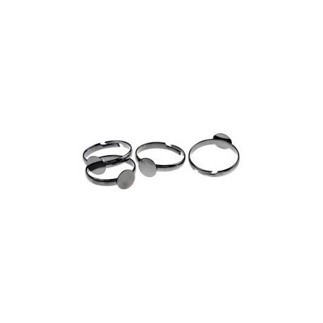 Žiedo pagrindas juodintos sp., dydis reguliuojamas, 1 vnt.