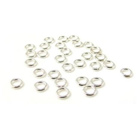Žiedeliai pasidabruoti viengubi 5*1 mm - 100 vnt.