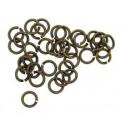 Žiedeliai metaliniai bronzos sp., nelituoti 5x0,8mm, 100 vnt.