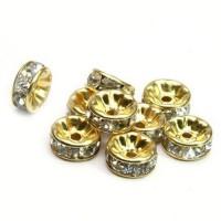 Intarpas, aukso sp., su akutėmis, 6x3mm, 1 vnt.