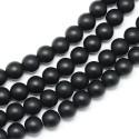 Agatas (juodas), apvalus matinis 10 mm., 1 vnt.