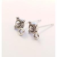 Užsegimai vinukai auskarams, sidabro sp., 1 pora