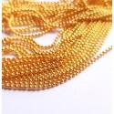 Burbuliukų grandinėlė aukso sp. 1,2mm, 50 cm