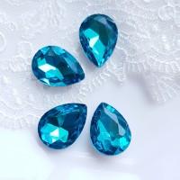 Įstatomi kristalai žydros sp. lašo f., 18x13x5mm, 1 vnt.