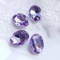 Įstatomi kristalai šv. violetinės sp. ovalūs, 18x13x5mm, 1 vnt.