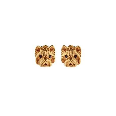 Auskarai vinukai su šuniuku, aukso sp., 15x15mm, 1 pora.