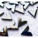 Hematitas, trikampis 15x15 mm (1 vnt.)