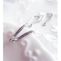 Auskarų kabliukai, sidabruoti, Premium, 1 pora