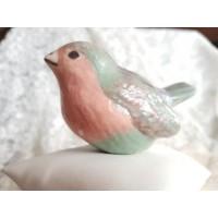 Keramikinis paukščiukas pastelinis, 1 vnt