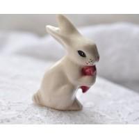 Baltas keramikinis zuikis, 1 vnt