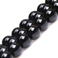 Agatas (juodas), apvalus 6 mm, 1 vnt.