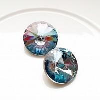 Rivoli kristalas blue pink, 12mm, 1 vnt.
