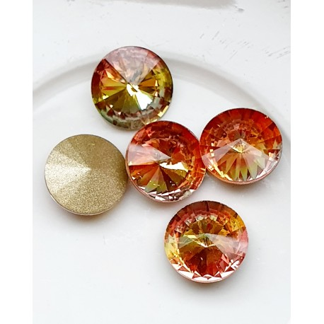 Rivoli kristalas vitrail yellow sp., 12mm, 1 vnt.