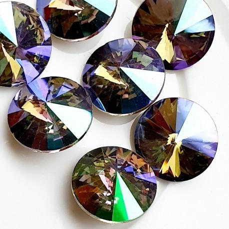 Rivoli kristalas chrysolite green sp., 14 mm, 1 vnt.