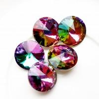 Rivoli kristalas vitrail medium sp., 14 mm, 1 vnt.