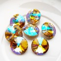 Rivoli kristalas crystal AB sp., 14 mm, 1 vnt.